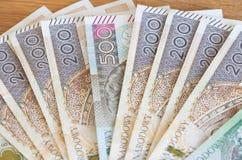 Polish money /  zloty / high denominations Stock Photo
