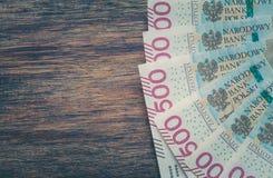 Polish money / zloty / highest denomination. Empty place for text royalty free stock photography