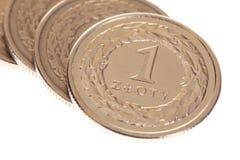 Polish money - zloty isolated Royalty Free Stock Photo