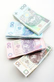Polish money - zloty isolated on white background Royalty Free Stock Photography