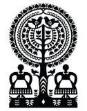 Polish monochrome folk art pattern Wycinanki Kurpiowskie - Kurpie Papercuts Royalty Free Stock Photo