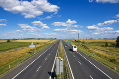 Polish motorway  A4  near Gliwice. Stock Images