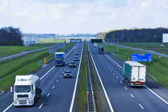 Polish A4 motorway near Gliwice Royalty Free Stock Photos
