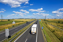 Polish A4 motorway near Gliwice Stock Photos