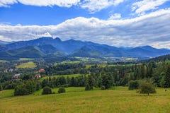 Polish mountains landscape Royalty Free Stock Photos