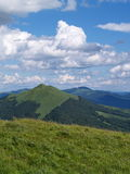 Polish Mountains Landscape. Photo was taken during the summer 2007 in Bieszczady Mountains, Poland Royalty Free Stock Photos