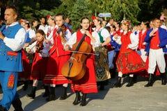 Polish national costumes parade
