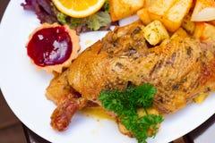 Polish national dish - roasted duck Stock Images