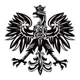 Polish emblem in black color Stock Image