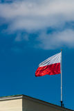 Polish national flag Stock Image