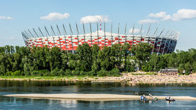 Polish National Stadium in Warsaw Stock Images