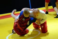 Polish National Wrestling League training Stock Photo