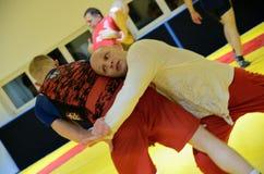 Polish National Wrestling League training Royalty Free Stock Photography