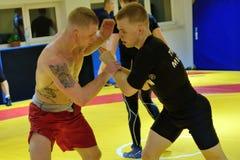 Polish National Wrestling League training Royalty Free Stock Images