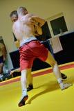 Polish National Wrestling League training Royalty Free Stock Image