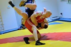 Polish National Wrestling League training Stock Photos