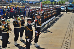 The Polish Navy band Royalty Free Stock Photo