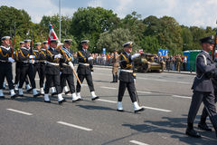 Polish Navy forces parade Royalty Free Stock Images