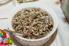 Polish noodles with poppy seeds Royalty Free Stock Images