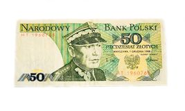 Polish old banknote Stock Image