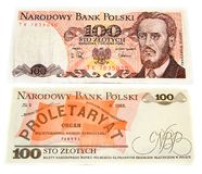 Polish old banknote Stock Photos