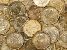 Polish one grosz coins Stock Photo
