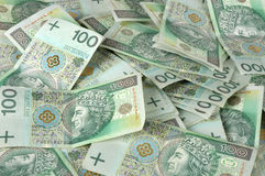 Polish one hundred banknotes Royalty Free Stock Photo