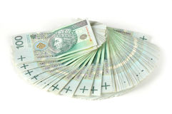 Polish one hundred banknotes Royalty Free Stock Image