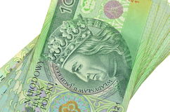 Polish one hundred zloty banknotes Stock Photos