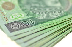 Polish one hundred zloty banknotes Stock Image