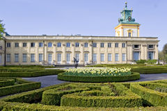 Polish palace Wilanow in Warsaw Stock Photos