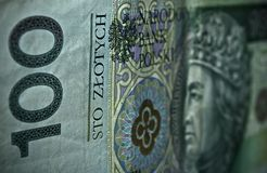 Polish paper money or banknotes Royalty Free Stock Photo