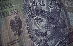 Polish paper money or banknotes Stock Images