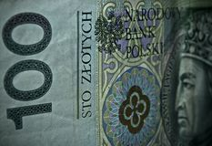 Polish paper money or banknotes Royalty Free Stock Photos