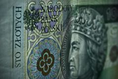 Polish paper money or banknotes Stock Image
