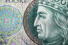 Polish paper money or banknotes Stock Photography