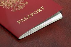 Polish Passport. Closeup Stock Photo