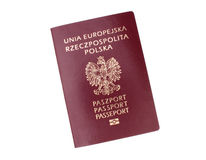 Polish passport Royalty Free Stock Image