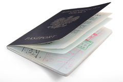 Polish Passports. On black background Royalty Free Stock Photography