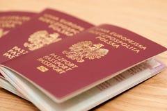 Polish passports Stock Photo