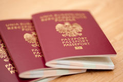 Polish passports Stock Photography