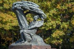 Polish pianist Frederic Chopin monument in Lazienki Park, Warszawa Stock Image