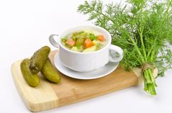 Polish pickled cucumbers soup Royalty Free Stock Photos