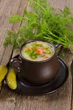 Polish pickled cucumbers soup Royalty Free Stock Photography