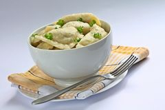 Polish pierogi Stock Photo