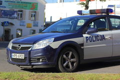 Polish police car royalty free stock photo
