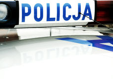 Polish police car Royalty Free Stock Photos