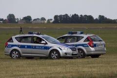 Polish police car Stock Photography
