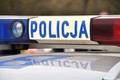 Polish police car Stock Photos