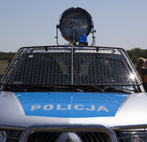 Polish police car Royalty Free Stock Photography